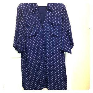 Express anchor shirt dress